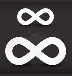 Infinity Symbols Set on Dark Background vector image