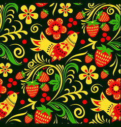 khokhloma russian painted and lacquered vector image vector image