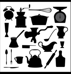 Kitchen tools icon vector image