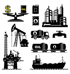 oil industry vector image vector image