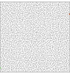 perfect maze vector image vector image