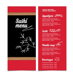 Restaurant cafe menu template design vector image