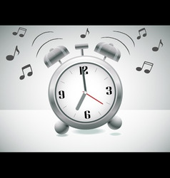 ringing alarm clock vector image vector image