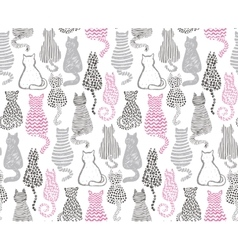 seamless pattern with hand draw textured vector image vector image
