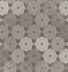 Seamless pattern with interlocking elements vector