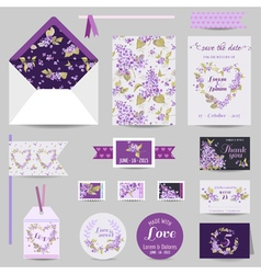 Set of wedding stationary vector