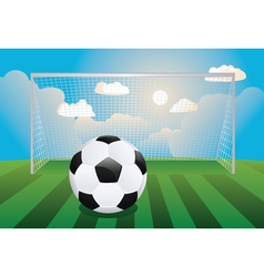 Soccer goal with ball vector