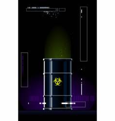 toxic barrel vector image vector image