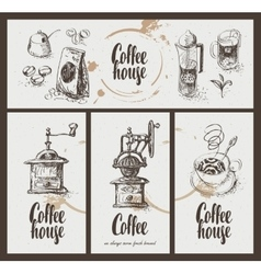Utensils for drinking coffee vector