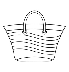 Women beach bag icon outline style vector