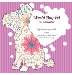World day pet background vector