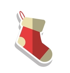 Boot of christmas season design vector