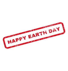 Happy earth day text rubber stamp vector