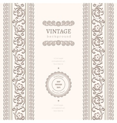 Vintage ornamental background vector