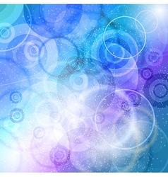 Crazy circles cold vector