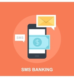 Sms banking vector