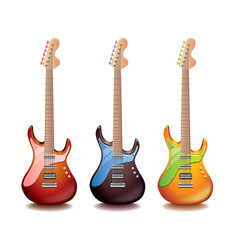 Electric guitar isolated vector