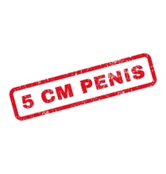 5 Cm Penis Text Rubber Stamp vector image vector image