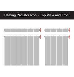 Simple icon of heating radiator with thermostat vector