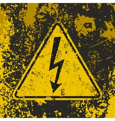 Grunge poster high voltage vector