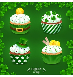 Green party set vector