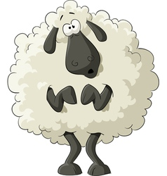 Scared sheep vector