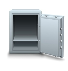 Empty bank safe for money business vector