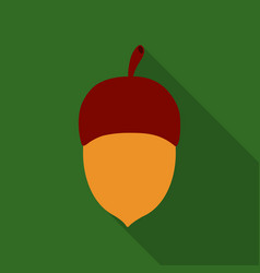 Acorn icon in flat style for web vector