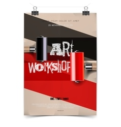 Art workshop template vector image