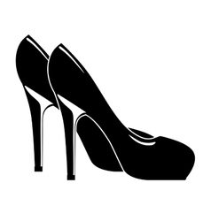 beautiful fashion heels isolated icon design vector image