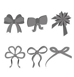 black grey bows vector image vector image