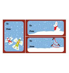 christmas gift tags vector image
