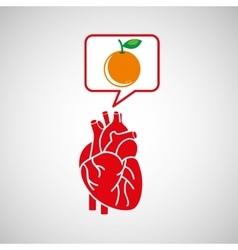concept healthy heart orange icon vector image