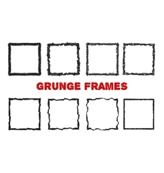 Crayon square frames isolated on white vector image vector image