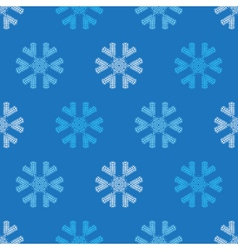 Crochet snowflakes seamless pattern vector