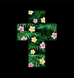 Cross jungle logo to print t shirts vector