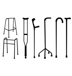 crutches vector image