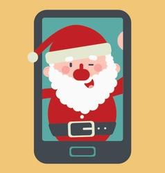 Cute Santa Taking a Selfie vector image vector image