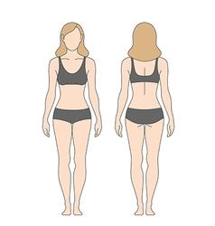 figure woman vector image vector image