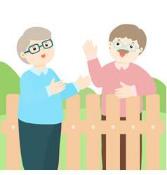 Good relationship of senior neighbor vector