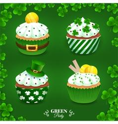 Green party set vector