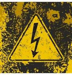 Grunge poster high voltage vector