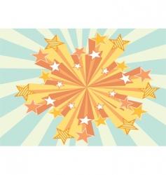 grunge stars background vector image