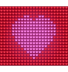 heart for Valentine card vector image