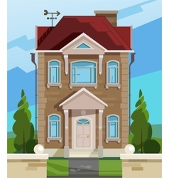 house English house facade vector image