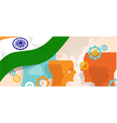 india concept of thinking growing innovation vector image