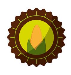 Isolated corn round icon vector
