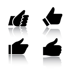 Like icons with reflection set 1 vector