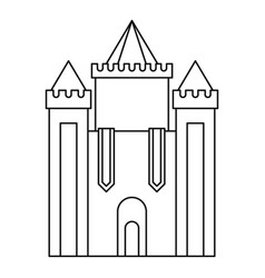 Medieval castle icon outline style vector