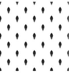 Oak leaf pattern vector